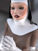 Fetish Nun with creamed face