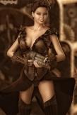 Steampunk Portrait Sexy Woman