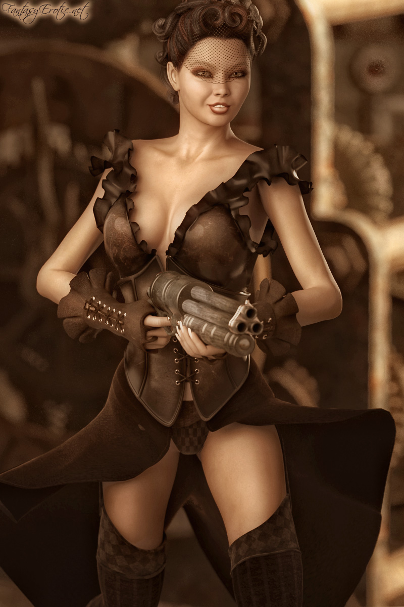Steampunk - sexy woman