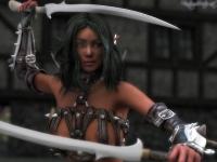 Sexy elf warrior portrait