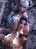 Mirella and Thy'ala - Two sexy elves