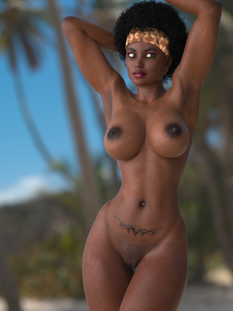 black women Topless