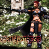 Demon Huntress Wallpaper