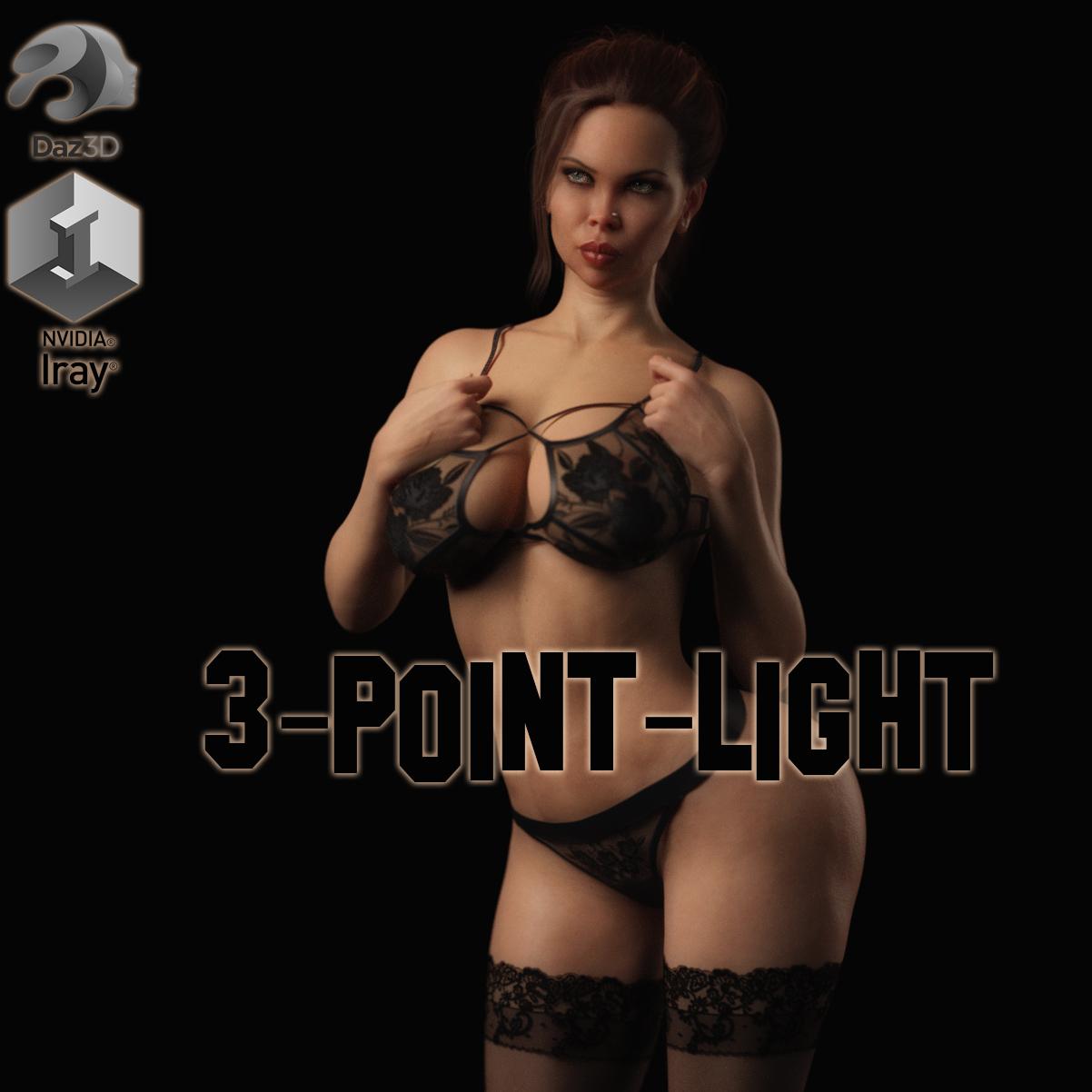 3 Point Light Setup for DAZ Studio