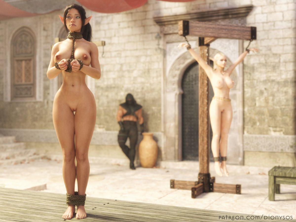 Medieval Girl Bare Maiden Delilah Corset Slave Of Kings