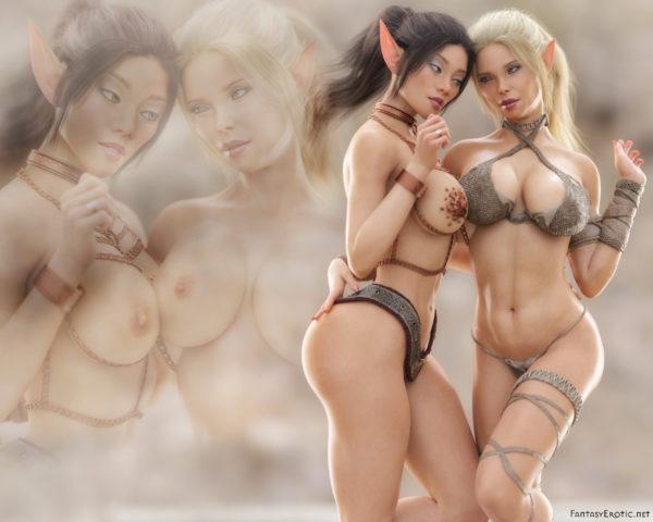 Sexy Elves Mylin Nia Wallpaper