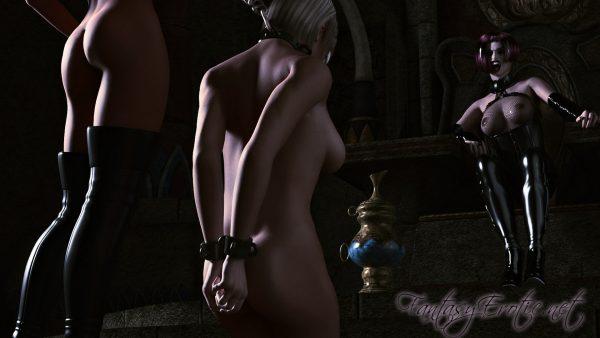 Vampire Mistress awaits Slave Wallpaper