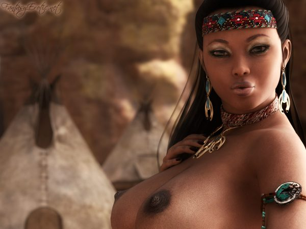 Topless Native American Wallpaper