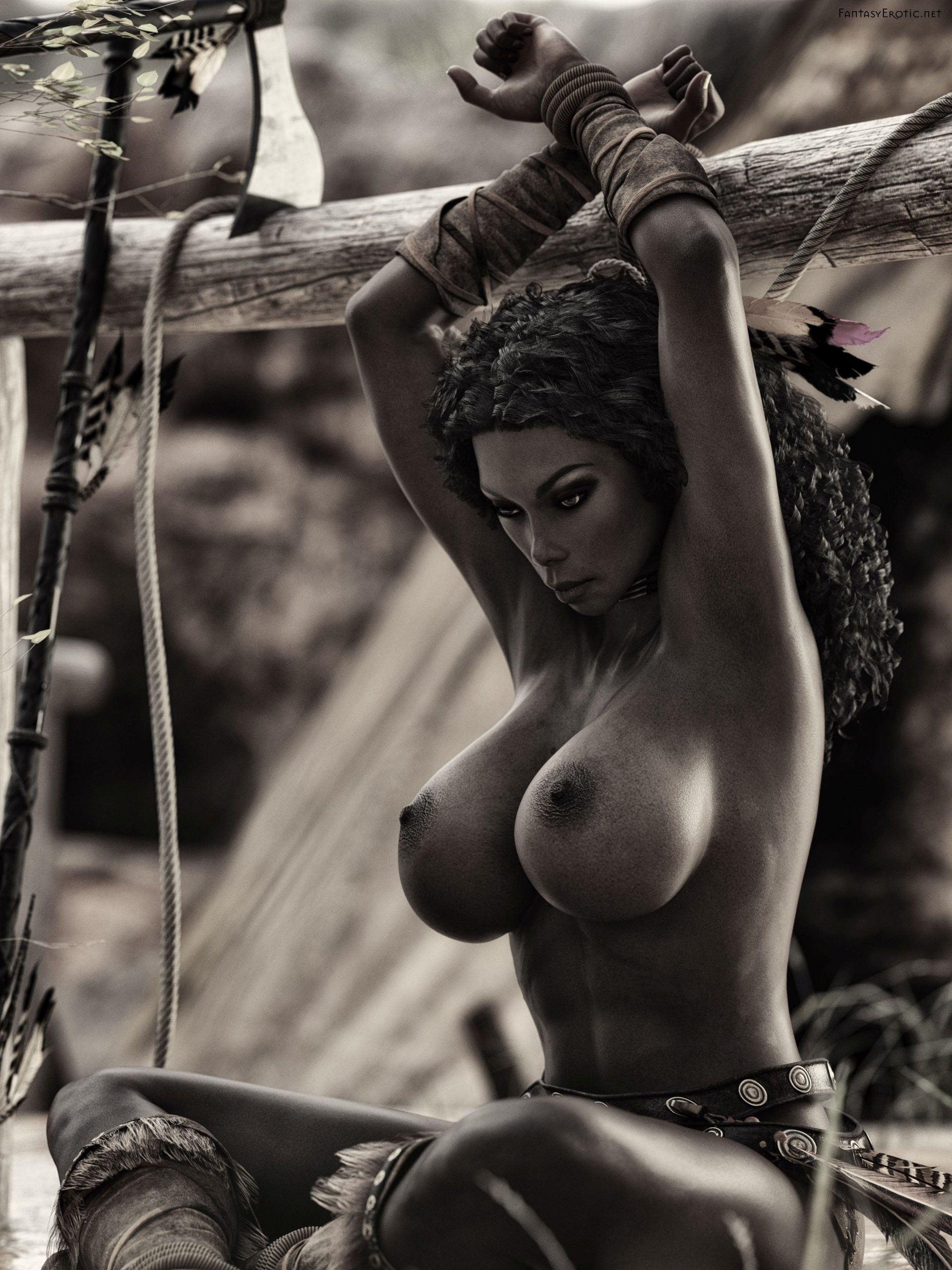 Native American Nude Bondage FineArt