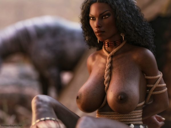 Native american woman with big titties and rope bondage