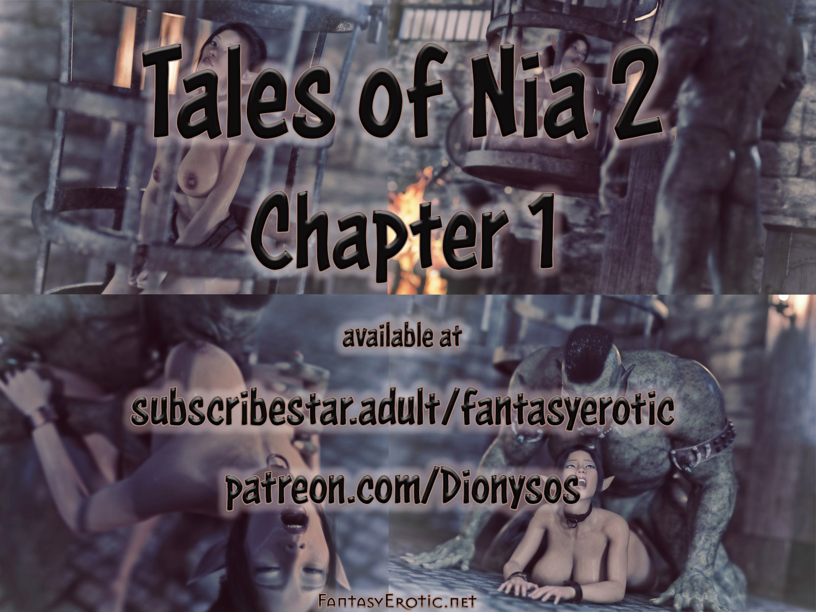 Scenes from the fantasy graphic novel Tales of Nia 2