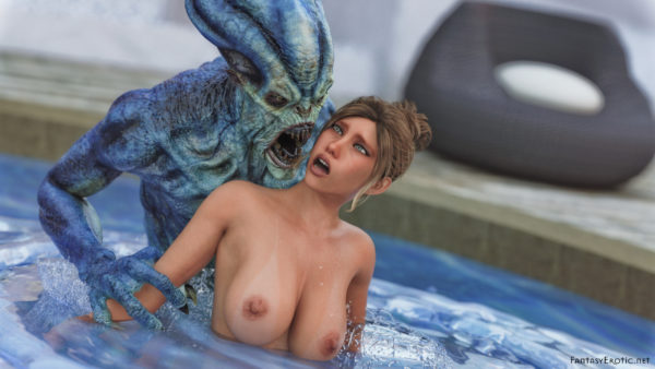 Pool Horror Monster QHD Wallpaper 16:9