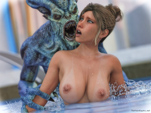 Pool Horror Monster Wallpaper QHD 4:3