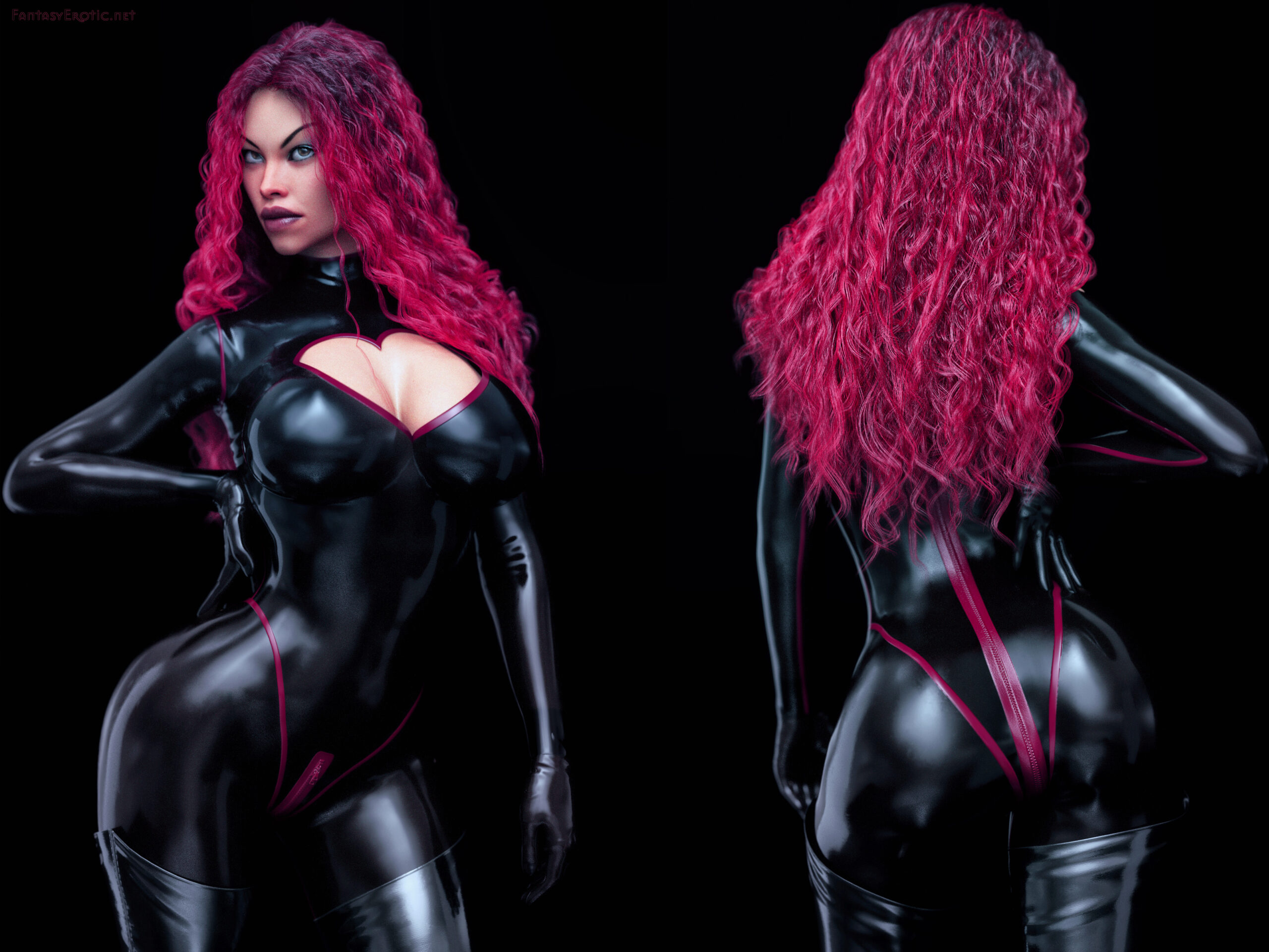 Latex Catsuit Fetish Wallpaper 4x3