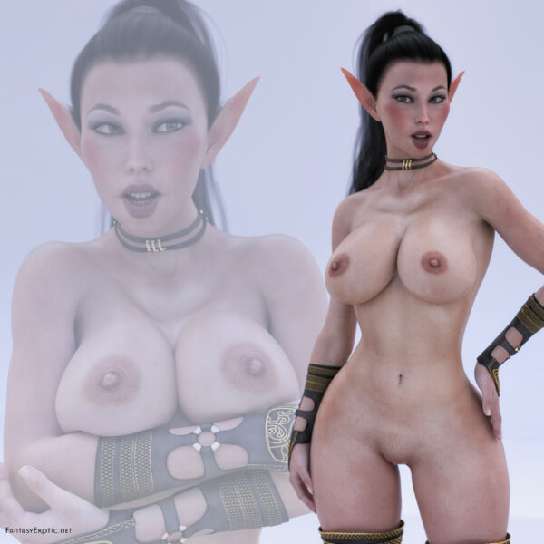 Elf Assassin Mal-Ra'Tul Posing Nude