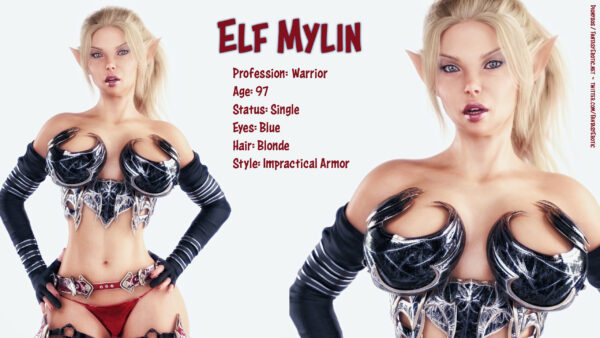 Elf Mylin Warrior Character Sheet