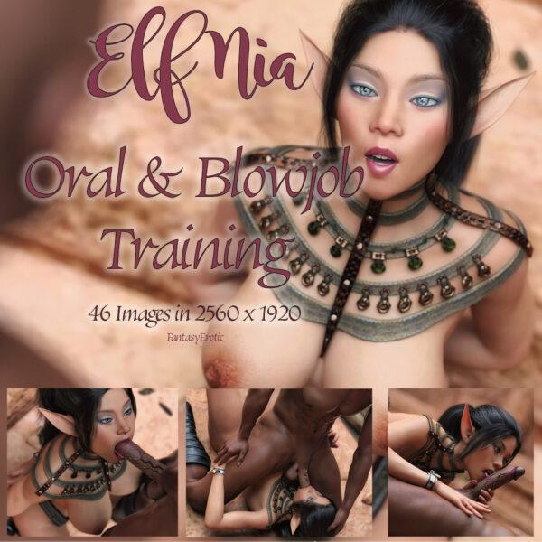 Elf Nia Blowjob Training
